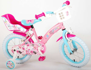 OJO Children's Bike 14 Inch 23,5 cm Girls Caliper Pink/Blue