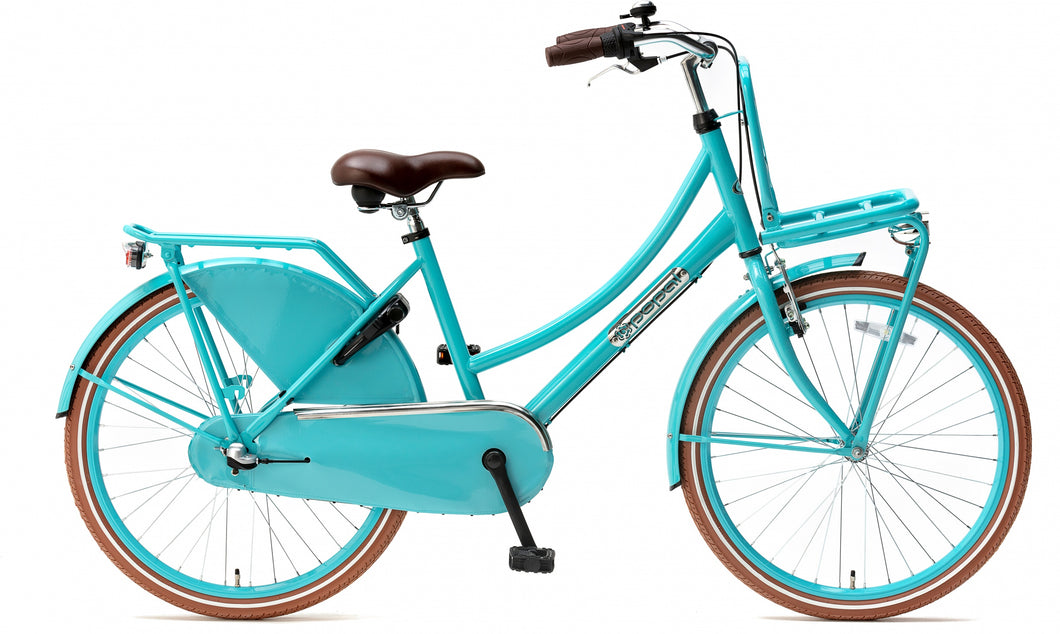 Popal Daily Dutch Basic+ 24 Inch 42 cm Girls 3SP Coaster Brake Turquoise