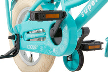 Load image into Gallery viewer, Supersuper Cooper 12 Inch 21,5 cm Girls Coaster Brake Turquoise