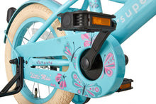 Load image into Gallery viewer, Supersuper Little Miss 14 Inch 21,5 cm Girls Coaster Brake Turquoise/Pink
