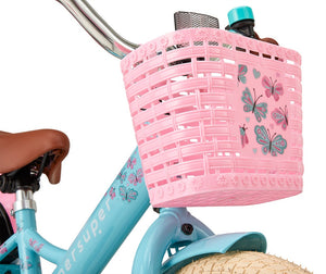 Supersuper Little Miss 14 Inch 21,5 cm Girls Coaster Brake Turquoise/Pink