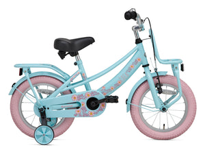 Supersuper Lola 14 Inch 21,5 cm Girls Rim Brakes Light blue/Pink