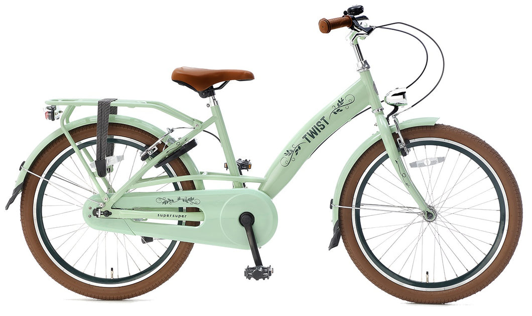 Supersuper Twist 22 Inch 31,75 cm Girls Rim Brakes Green