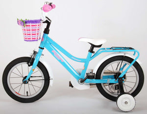 Volare Brilliant 14 Inch 23,5 cm Girls Coaster Brake Blue/White
