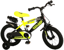 Load image into Gallery viewer, Volare Sportivo 14 Inch 22 cm Boys Rim Brakes Black/Yellow