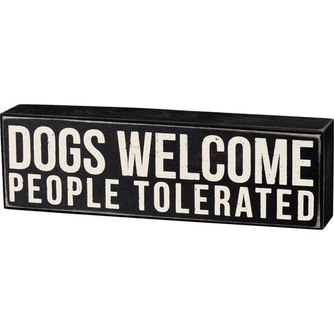 PBK DOGS WELCOME SIGN