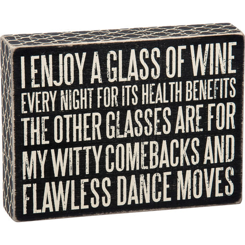 PBK GLASS OF WINE SIGN