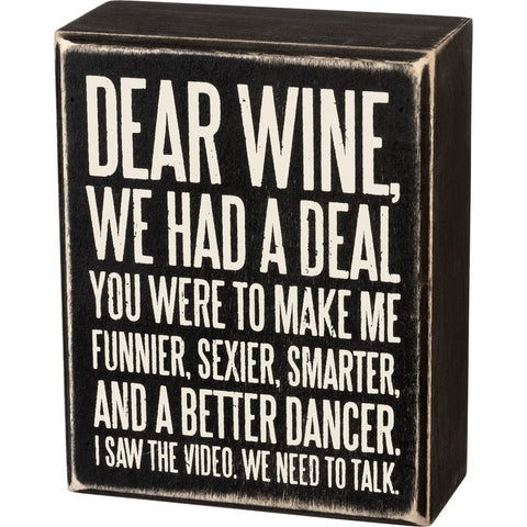 PBK DEAR WINE SIGN