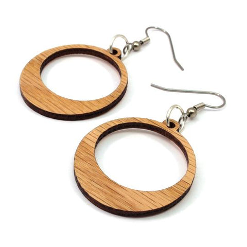 SIMPLE HOOP SUSTAINABLE WOODEN EARRINGS