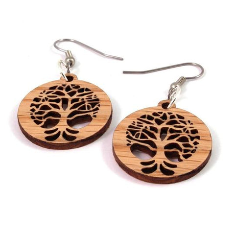 TREE OF LIVE SUSTAINABLE WOODEN EARRINGS