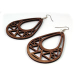 TRIANGLE TEARDROP SUSTAINABLE WOODEN EARRINGS