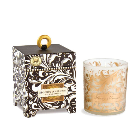 MICHEL DESIGN WORKS HONEY ALMOND 6.5 OZ SOY WAX CANDLE