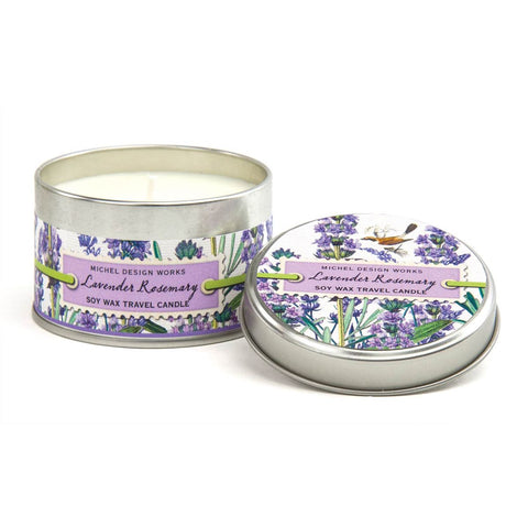 MICHEL DESIGN WORKS LAVENDER ROSEMARY TRAVEL CANDLE