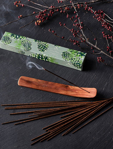 SPF ROLAND PINE INCENSE STICKS AND WOODEN TRAY