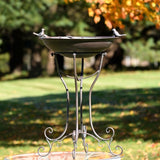 TWO BIRDS IRON BATH WITH BRONZE FINISH