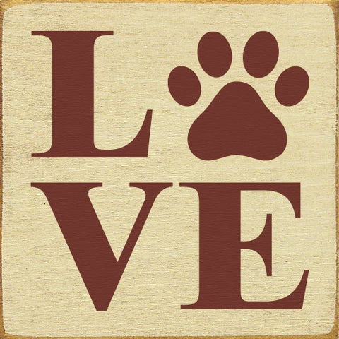 LOVE (PAW PRINT) SIGN