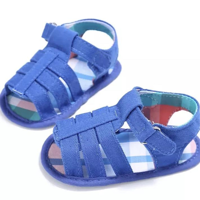 Tropical Blue Fisherman Baby Sandal - Teeny Weeny Soles