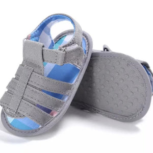 Grey Fisherman Baby Sandal - Teeny Weeny Soles