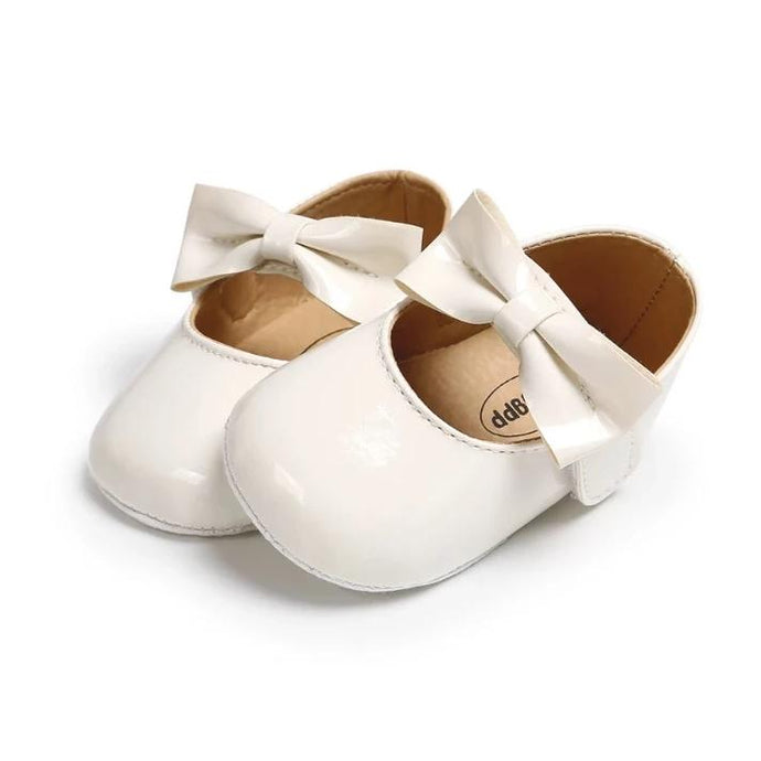 Ivory Mary Jane Baby Shoe - Teeny Weeny Soles