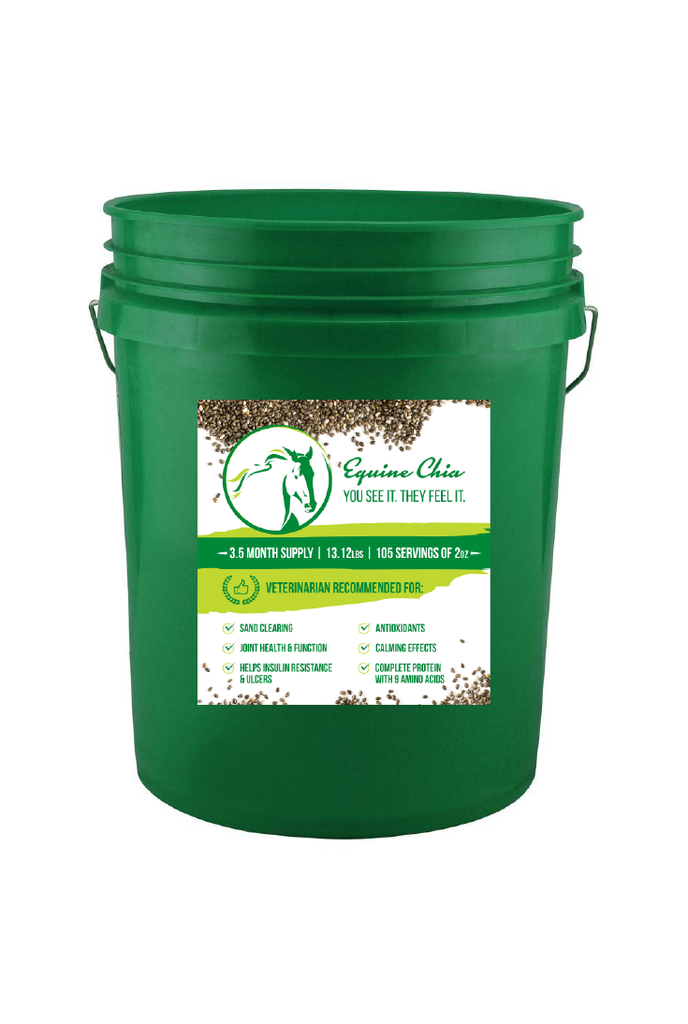 Equine Chia Pails W/Resealable Lid & Scoop