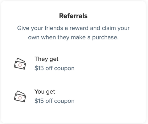referral program rose petal rewards