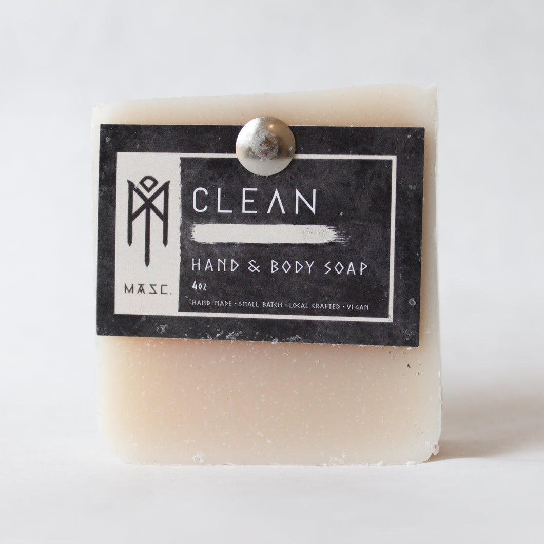 Clean masculine hand and body bar soap