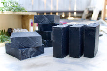 Load image into Gallery viewer, charcoal rosemary sage bar soaps set without labels