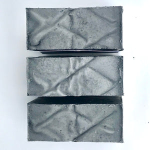 charcoal rosemary and sage bar soap set of 3 from above