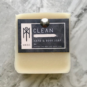 Clean masculine hand and body coat cream coloured