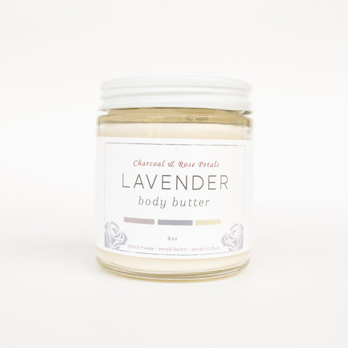 Charcoal & Rose Petals Lavender body butter