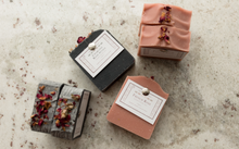 Load image into Gallery viewer, French rose and Charcoal and Rose Petal signature rarest bar soaps