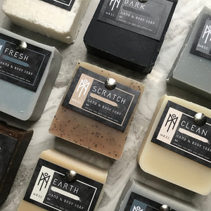 Masculine hand & body bar soap collection