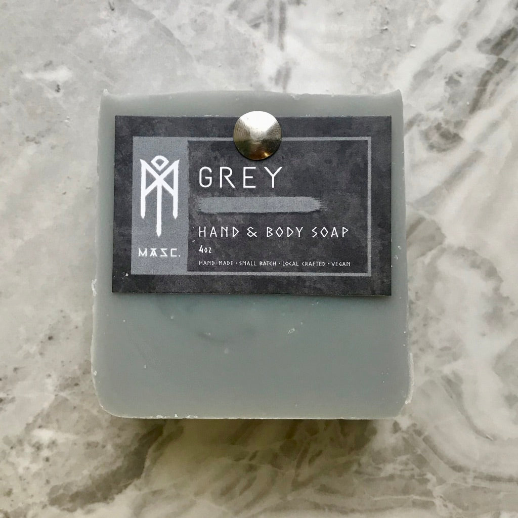 Grey Masculine Hand & Body Soap