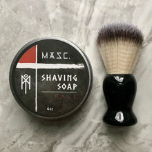 Load image into Gallery viewer, Masculine Fall Shaving Soap with brush