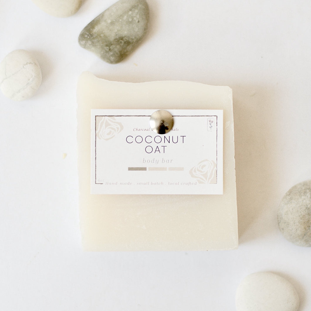 Coconut oat bar soap