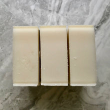 Load image into Gallery viewer, Clean masculine cream coloured hand and body soap set of 3