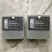 Load image into Gallery viewer, Grey Masculine Hand & Body Soap set of 2 bars
