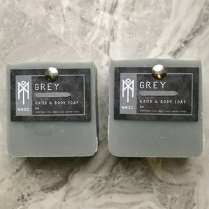 Grey Masculine Hand & Body Soap set of 2 bars