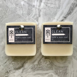 Clean hand & body soap cream coloured set of 2