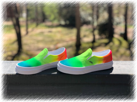 Tye Dye Slip-On Vans Customz