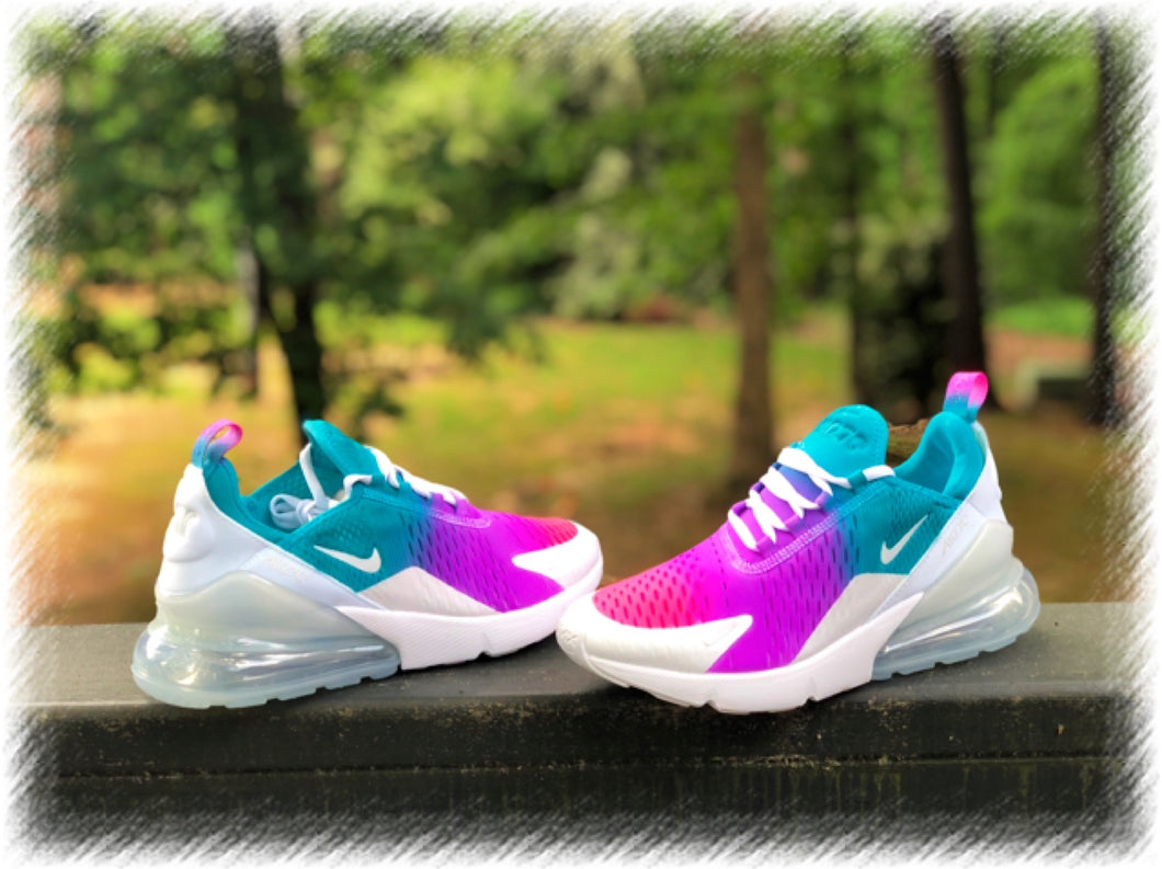Rainbow Streaks Nike Air Max 270 Customz