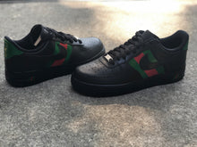 Load image into Gallery viewer, Black Designer Inspired Custom Painted Nike Low Air Force 1