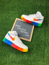 Load image into Gallery viewer, Rainbow Custom Painted Nike Mid Air Force 1