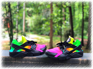 Black Tye Dye Nike huaraches custom