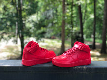 Load image into Gallery viewer, Fire Red Custom Painted Nike Mid Air Force 1