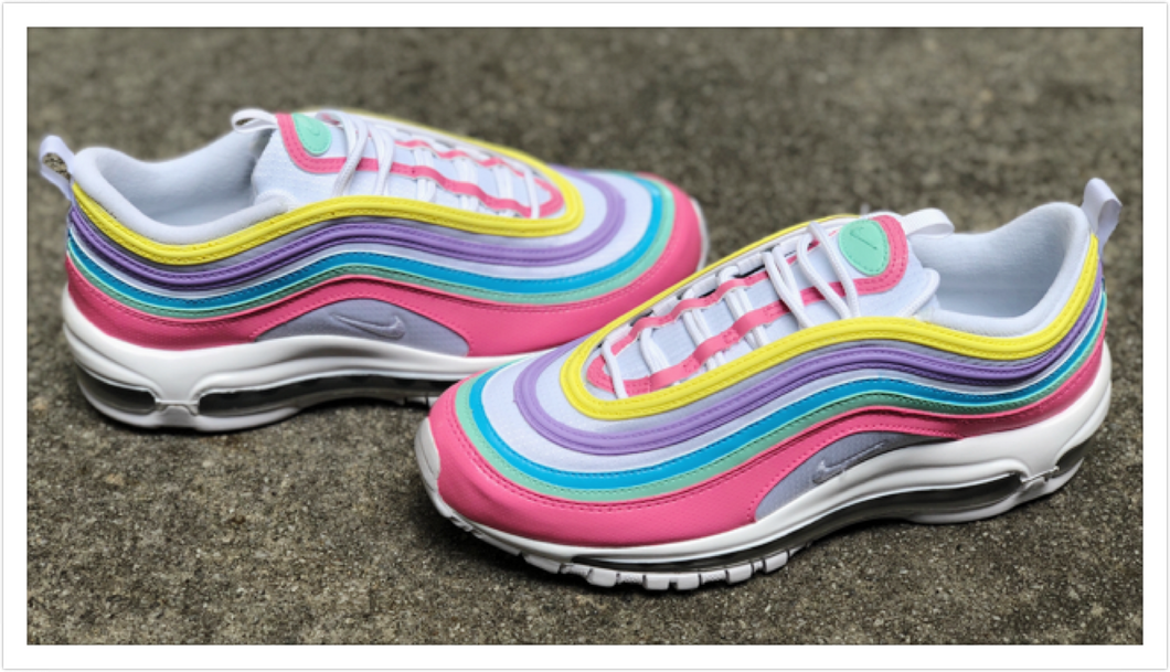 Pastel Colored Nike Air Max 97 Custom
