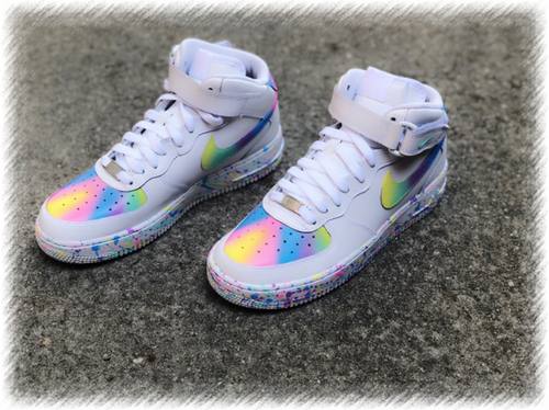 Pastel Colored Custom Painted Nike Mid Air Force 1