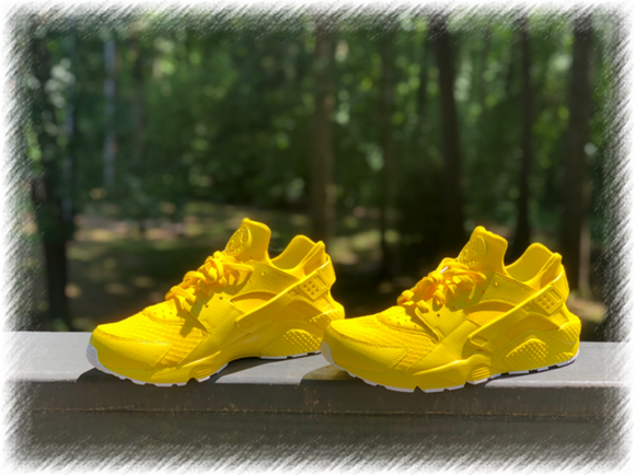 Sunshine Yellow Nike Huaraches Customs