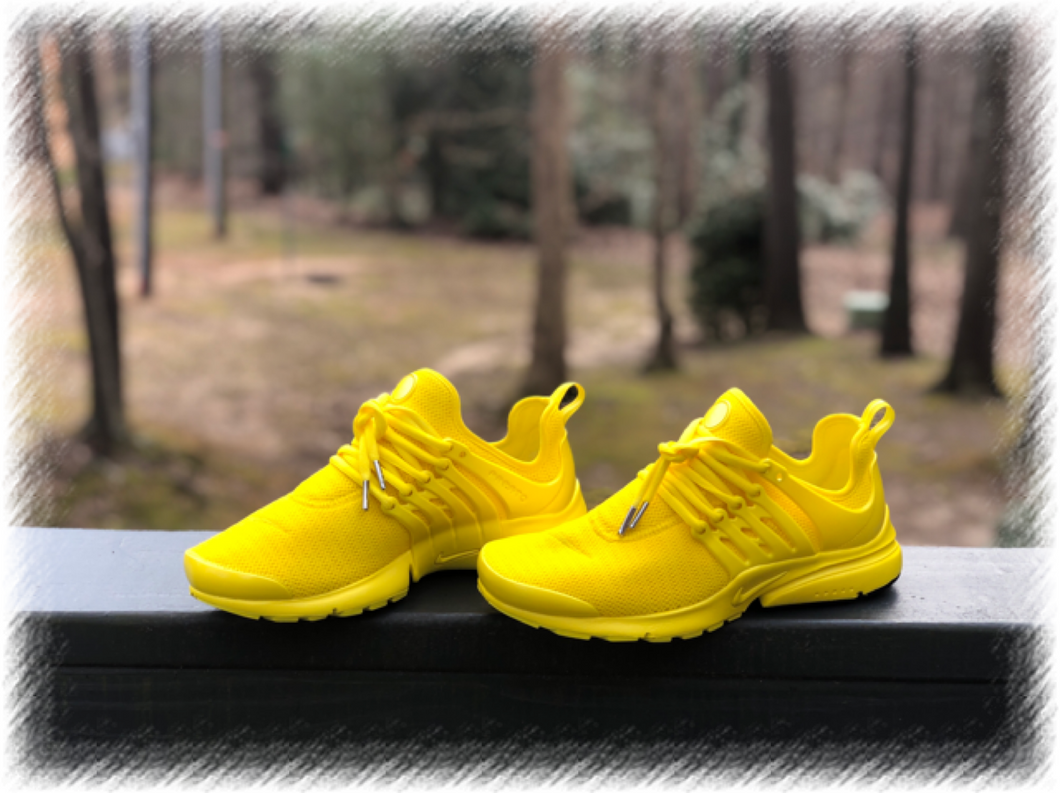 Sunshine Yellow Nike Presto Custom