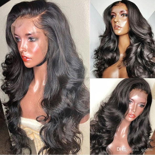 Lace Front Black Wig grey Lace hair wigs band wigs Lace hair